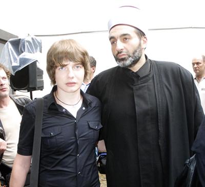 Saša Milivojev i muftija Muhamed Jusufspahić
